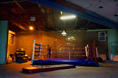 The ring at George Khosi's Hillbrow Boxing Club.  Hillbrow, in downtown Johannesburg, is the city's most notorious neighbourhood. It is overcrowded, ridden with illegal squats and suffers from high le...