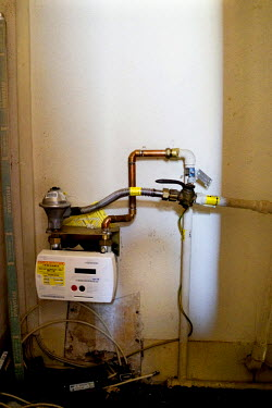 The gas meter at the house of Kevin (52) and Angela Turner (51).We were putting all our money on the electricity and gas. If there was food in the house I made sure the other three was eating and star...