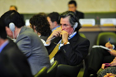Amabssader Pedro Oyarce of Chile shortly before his departure from the Conference on Disarmament. He made a speech raising the issue of 'constructive ambiguity' as means of moving forward. Deadlock ha...