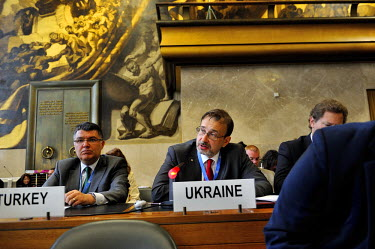 In a rare moment of political reality breaking into the Conference on Disarmament, Ukraine decries recent Russian actions in Eastern Ukraine.  The Conference on Disarmament, established in 1979, is th...
