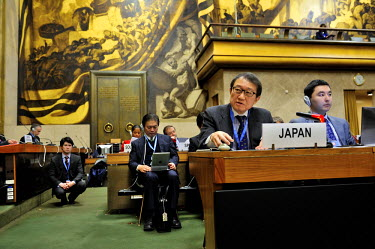 The Japanese ambasador addressing the Conference on Disarmament: Japan has a particular role due to its histroy as the only victim of a nuclear weapons attack.  The Conference on Disarmament, establis...