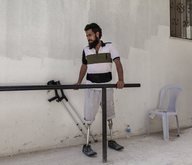 34 year old Mahmoud Omar lost both his legs above the knee when the car he was driving, while fighting with the FSA in Allepo, was bombed by a Syrian regime plane. He came to Reyhanli where he was fit...