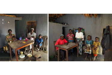 Left: 2005, Keterina Augustino (60) with her husband Augustino Wilson (63) and their grandchildren Selinati, Pemphero and Stephen. Since their son and daughter-in-law died of AIDS they have been the s...