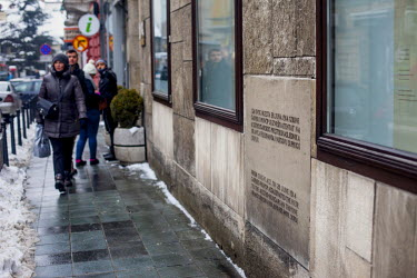 The museum of the Assassination of Franz Ferdinand. It was at this spot, on 28 June 1914, 19 year old Gavrilo Princip assassinated Archduke Franz Ferdinand and his wife, Sofia, setting in motion a cha...