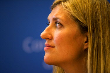 Beatrice Fihn, Executive Director of ICAN, the International Campaign to Abolish Nuclear Weapons, which was awarded the Nobel Peace Prize for 2017, photographed on the day the award was announced, in...
