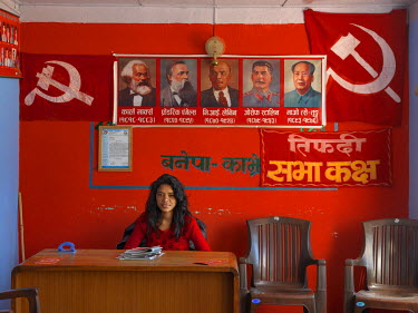 Gita Rasaili (25), office secretary in the Banepa district office of the Communist Party of Nepal (Revolutionary Maoist), aka CPN-Maoist (Baidya).