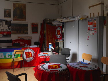 The 'Antonio Gramsci' office of the Communist Refoundation Party (PRC) in the San Siro district.