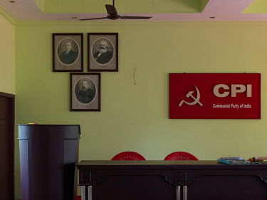 The Conference Hall at the Communist Party of India's (CPI) Thrissur District Council Office.