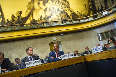 U.S. Ambassador Robert Wood, presenting the United States Nuclear Posture Review to other states at the Conference on Disarmament. Wood claimed that North Korea was only months away from having the ca...