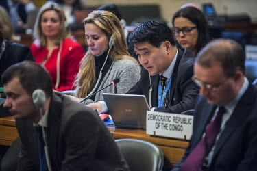 North Korean diplomat Ju Yong Chol, challenging a statement made by the U.S. Ambassador Robert Wood, while presenting the United States Nuclear Posture Review to other states at the Conference on Disa...