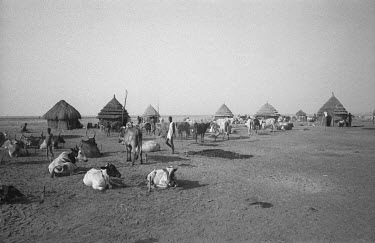 A remote Nuer cattle camp by the Baro River not far from the Sudanese border.
