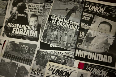 Issues of the La Union newspaper produced by community journalist Moises Sanchez Cerezo. He was abducted from his home on 2 January 2015 and his body appeared heavily mutilated a few weeks later. A fo...
