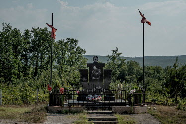 A monument to a fighter with the Kosovo Liberation Army killed in April 1999.