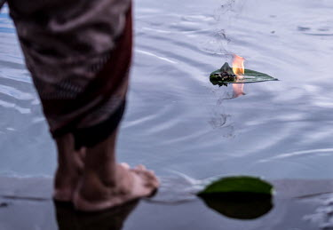 Hindu devotees pray and make offerings at Grand Bassin lake, a holy site which contains water from the Ganges River.