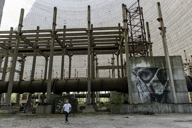 A mural at the Chernobyl nuclear power plant.