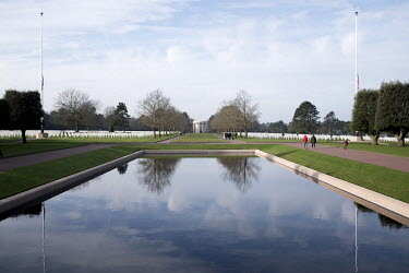 The American Cemetery at Colleville-Sur-Mer, near Omaha Beach. The beach was one of the five landing sites along the Normandy coast where allied forces landed on D-Day, 6 June 1944, as Operation Overl...