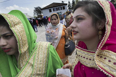Around 12,000 Sikh migrants, and their Italian born children, representing the Sikh community of the Po Valley and beyond, gather at the Gurdwara Singh Sabha Sikh temple for Vasakhi (Harvest Festival)...