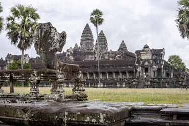The temple complex of Angkor Wat.