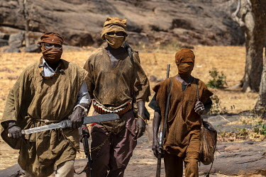 A group of Dogon hunters called Dozo, who have formed a militia known as 'Dan Na Ambassagou' (the hunters who confide in God'). The group was suspected of killing 165 mainly Fulani people during a rai...