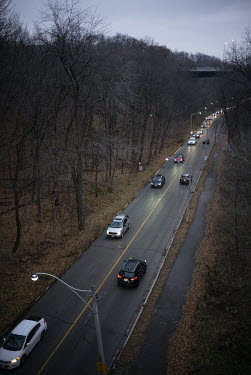 Traffic in the Rosedale Valley, a popular place for homeless people to camp.