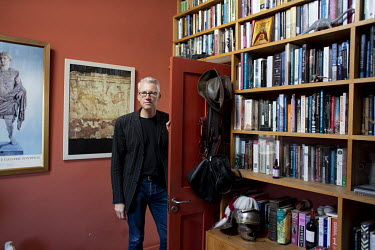 Tom Holland, author and historian, at his home in south London. Tom has a new book out, Dominion, about how Christianity has shaped the Western world.