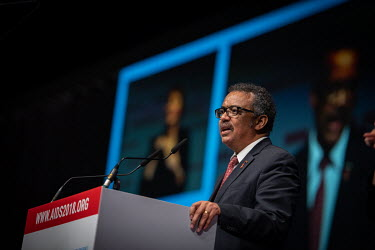 Director-General of the World Health Organisation (WHO), Dr. Tedros Adhanom Ghebreyesus speaking at the 22nd International AIDS Conference (AIDS 2018)