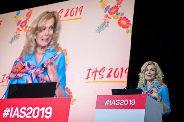 Dr Deborah Birx, ambassador-at-large and US global AIDS coordinator, speaking at the 10th IAS Conference on HIV Science (IAS 2019).