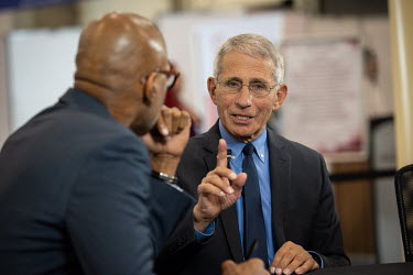 Anthony Fauci, Director of the National Institute of Allergy and Infectious Diseases at the National Institutes of Health (USA), being interviewed during the 10th International AIDS Society (IAS) Conf...