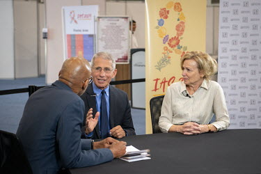 Anthony Fauci, Director of the National Institute of Allergy and Infectious Diseases at the National Institutes of Health (USA) and Dr Deborah Birx, ambassador-at-large and US global AIDS coordinator,...