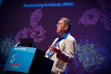 Denis Burton gives a presentation on 'Vaccine: New Developments in Protecting Antibodies' at the 7th International AIDS Society (IAS) Conference on HIV Pathogenesis, Treatment and Prevention.