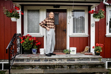 Lars Bottolfs (94) outside his home. He was part of the Osvald Group, a Norwegian sabotage organisation, during the German occupation in World War Two. He took part in blowing up a bridge, that had be...