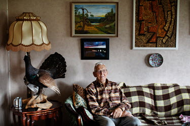 Lars Bottolfs (94) in the living room at his home. At 18 years of age he was part of the Osvald Group, a Norwegian sabotage organisation, during the German occupation in World War Two. He took part in...