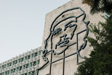 The Che Guevara relief sculpture in Plaza de la Revolucion (Revolution Square).