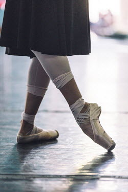 A dancer practices at the Ballet Nacional de Cuba.