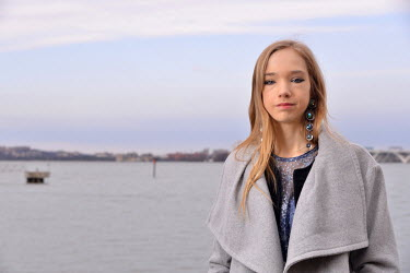 Naomi Siebt (19), a German activist and climate-change sceptic, who has been described as the 'Anti-Greta', stands on the banks of the Potomac River. She was in the USA to speak at America's largest c...