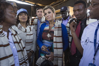 HM Queen Maxima of the Netherlands visiting the Anja Chefa HGSF school in Hangachafa Village, where the children are provided a free meal at every day. WFP is providing the food, that is cooked at the...
