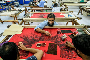 workers work in Maximiliano Modesti's embroidery foctory in Lower Parel in Mumbai. Max follows all the rules and regulations & compliances in his factory. Photo By Atul Loke For The New York Times