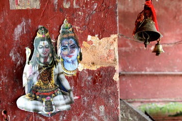 Images of Shiva in the Devi Dol Shiva Temple.