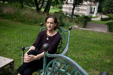 Author and historian Anne Applebaum at Dwor Chobielin, her rural former manor house.