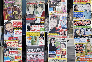 Popular youth magazines displayed on a newspaper stand.
