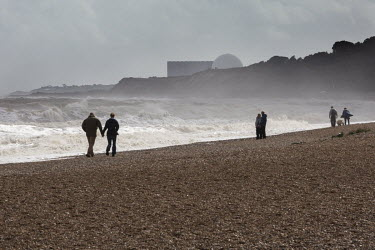 Sizewell Nuclear Power station viewed from Dunwich Beach.