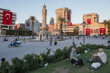 Konak Meydani Square with the an Ottoman clock tower.