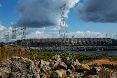 The main powerhouse of Belo Monte hydroelectric dam on the Xingu River.