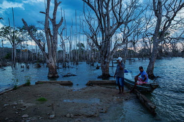 Leonardo Batista (59) visits what remains of his brother's house that was on an island in the Xingu River but which was flooded by the Belo Monte hydroelectric reservoir.