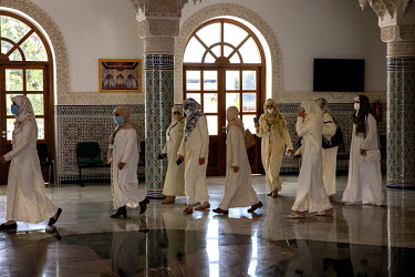 Female students at the Mohammed VI Institute for the training of imams.