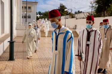 Students at the Mohammed VI Institute for the training of imams.