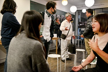 Members of the public attending a popular event organised by 'Hidden Taipei', an NGO that works with homeless people. Mr Teng (67, white shirt, centre), the speaker at the event who was himself former...