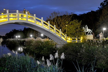An ornamental bridge at the Cihu Chiang Kai-shek Memorial Sculpture Park. A total 152 statues of the former president of the ROC (Republic of China), Dr. Sun Yat-sen and Chiang Kai-shek's son, former...