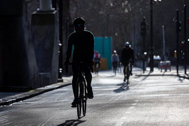 Cyclists on Victoria Embankment,