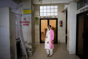 Munny Akter, one of the first midwives at the peninsula's health facility outside Cox's Bazar. Since the first midwives were employed at the clinic in 2016, deliveries have increased from 44 to over 4...